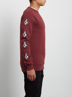 Supply Stone Crew Sweatshirt - Crimson