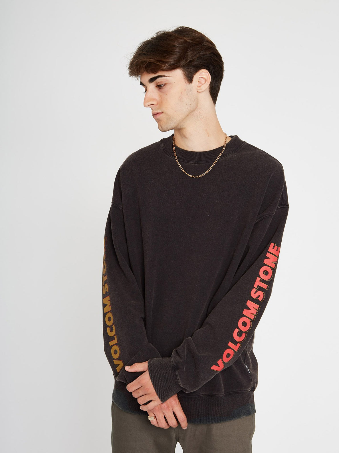 Harcid Wash Sweatshirt - Black (A4612153_BLK) [F]