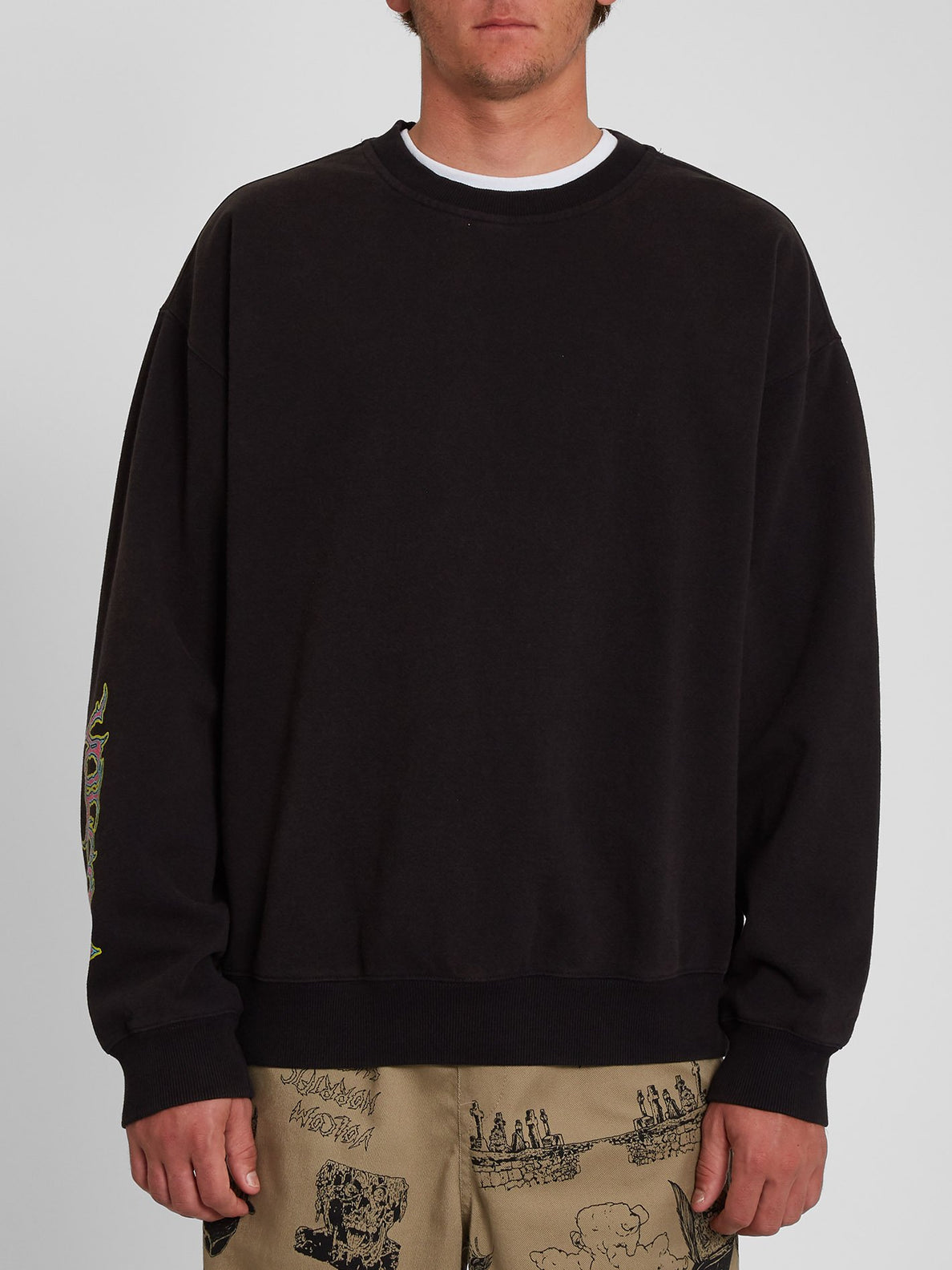 Black Sounds Sweatshirt - BLACK (A4642003_BLK) [F]