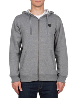 SNGL STN ZIP DARK GREY
