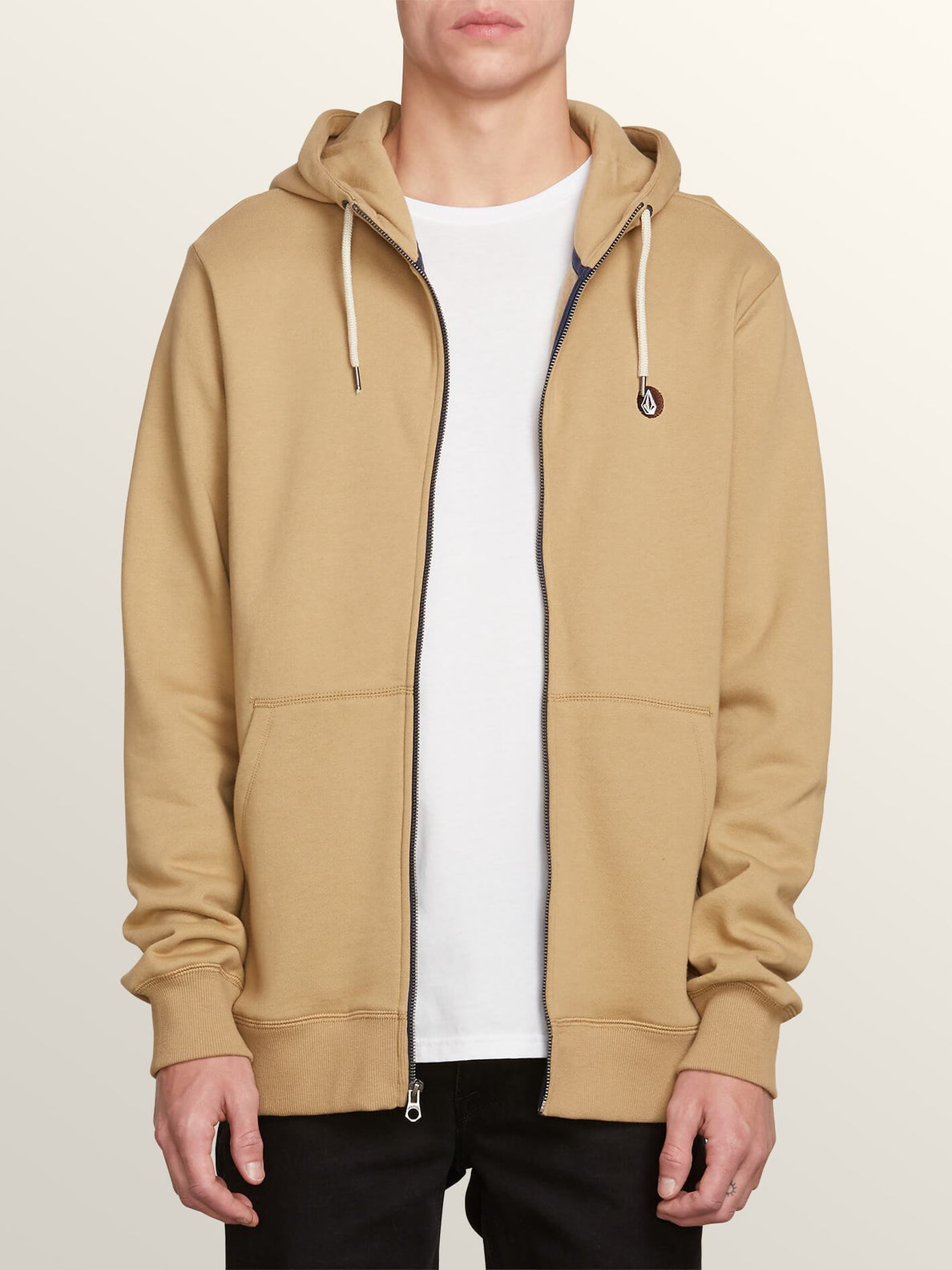Single Stone Zip Hoodie - Sand Brown