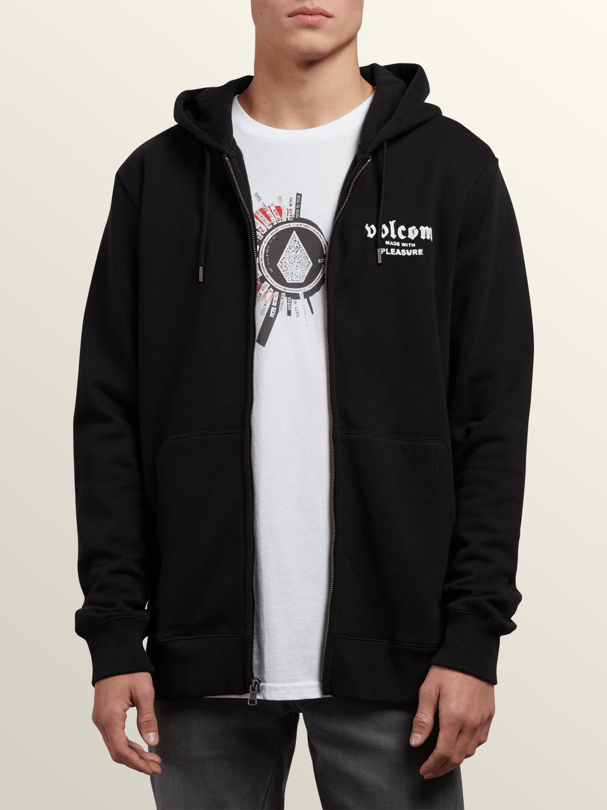 Supply Stone Zip Sweaters - Black