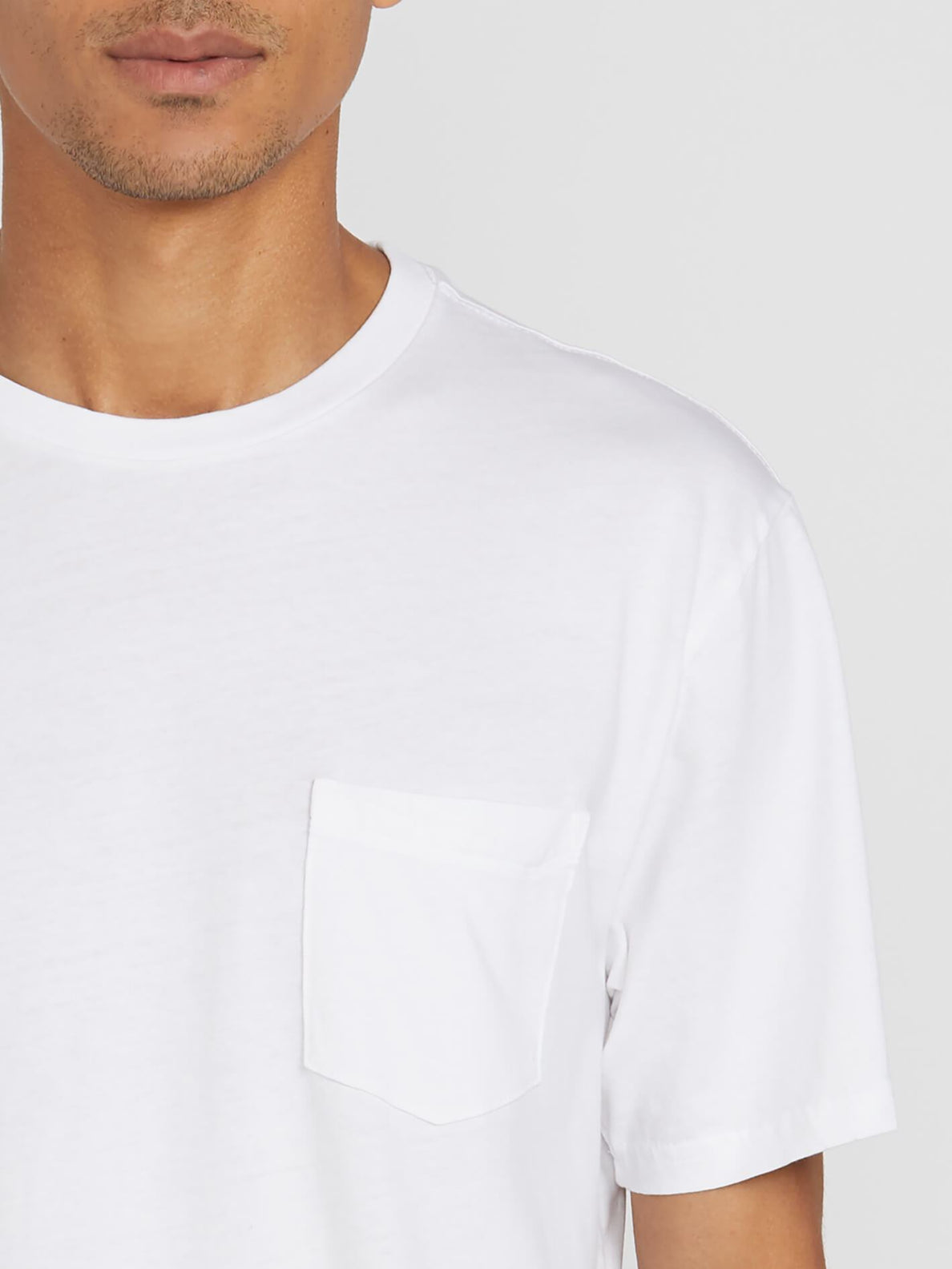 Solid Pocket T-shirt - White (A5031808_WHT) [1]