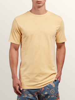 Pale Wash Solid Short Sleeve Tee - Sunburst