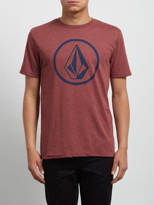 Circle Stone Heather Tee - Crimson