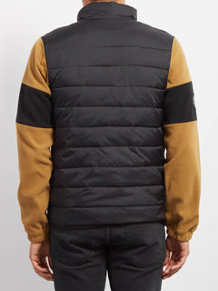 Foley Zip Sweaters - Old Gold