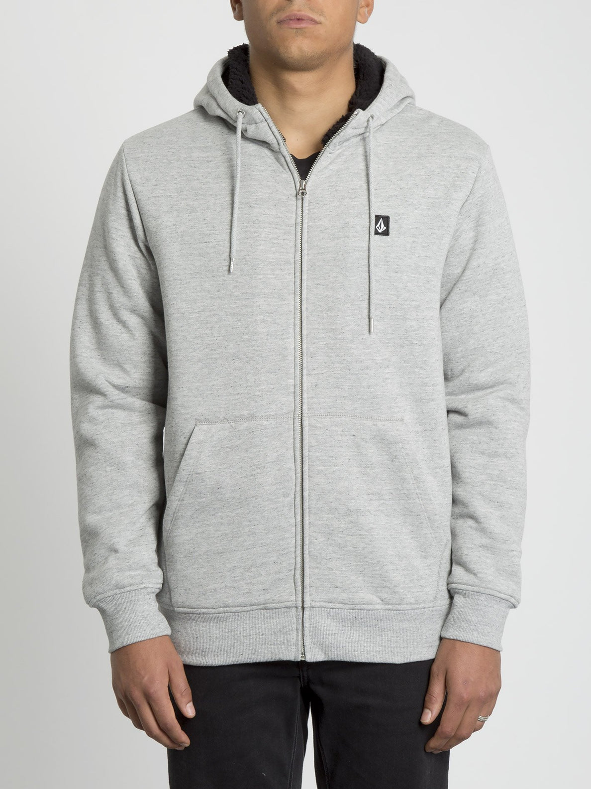 Single Stone Lined Zip Hoodie - Storm (A5831900_STM) [F]