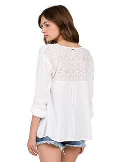 Sunset Path Top - White