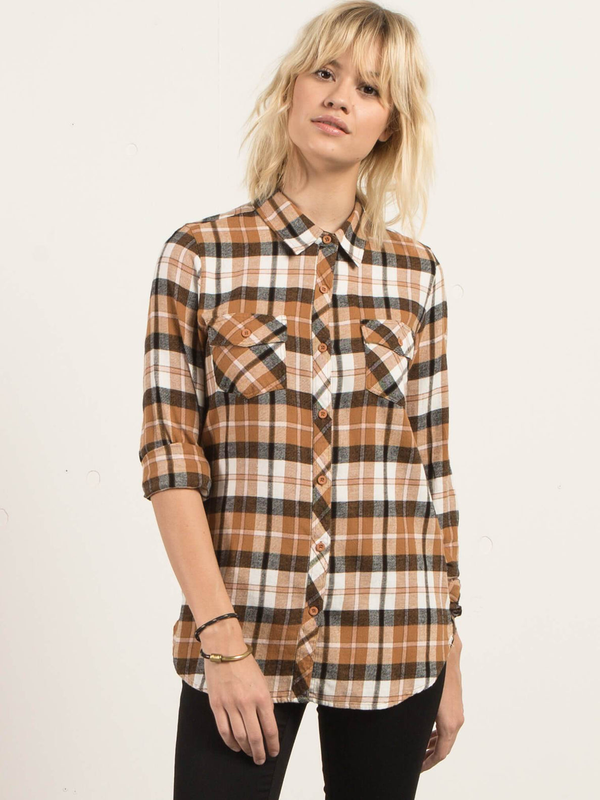 Desert Fly Long Sleeve Flannel - Caramel