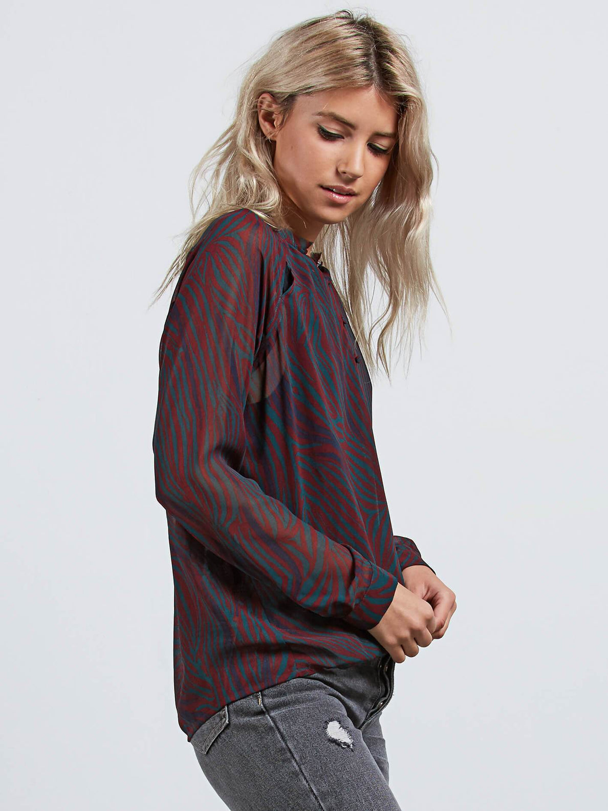 Zebom Top Shirt - Burgundy