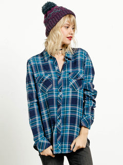 Fly High Long Sleeve Flannel - Royal