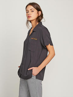 Strike It Hot Short Sleeve Shirt - Black