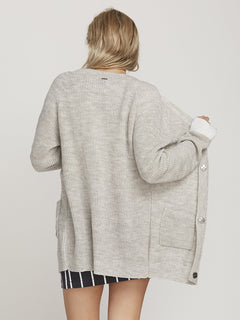 Oltime Cardigan  - Light Grey