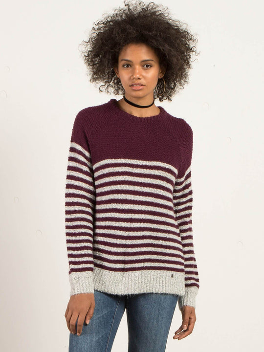 Cold Daze Sweater - Plum