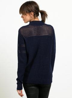 Peepin On Sweater - Midnight Blue