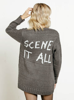 Seen Too Much Cardigan - Charcoal Grey