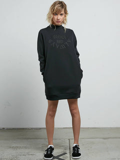 BURN CITY FLCE DRESS VINTAGE BLACK
