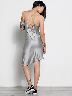 GMJ Slip Dress - Metalic Silver