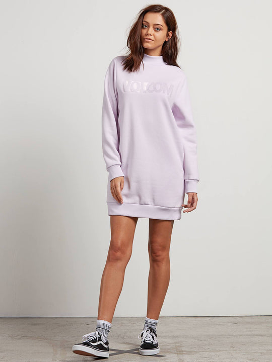 Burn City Flc Dre Dress - Light Purple