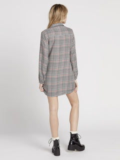 Fad Friend Dress - Black Plaid (B1331909_BLP) [B]