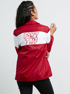 Coach Away Jacket - Chili Red