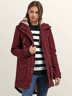 Walk On By Parka - Burgundy