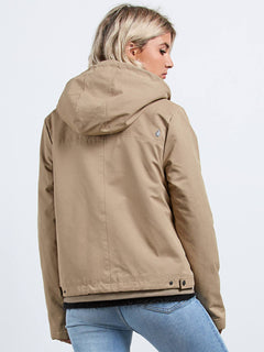 Walk On By Short Jacket - Khaki