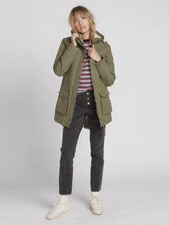 Walk On By 5K Parka - Army Green Combo (B1531950_ARC) [2]