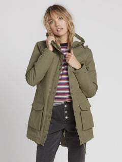 Walk On By 5K Parka - Army Green Combo (B1531950_ARC) [F]