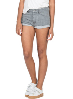 Stoned Short Rolled Shorts - Grey Vintage
