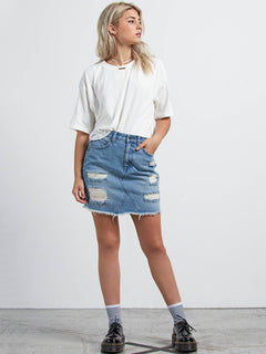 Stoned Mini Skirt - Heavy Worn Faded