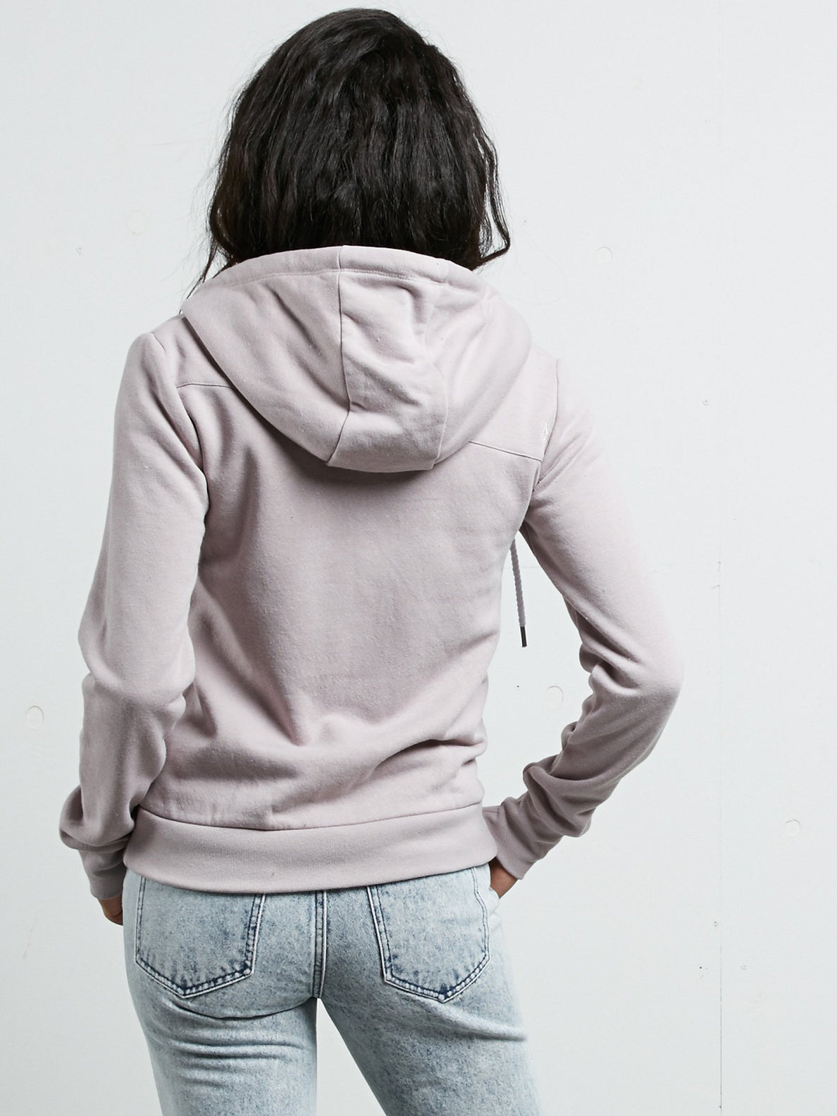 Walk On By Zip Hoodie - Steel Purple
