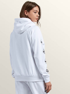 GMJ Hooded Fleece Sweater - White