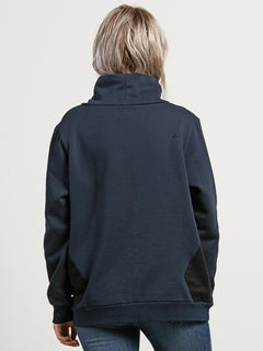 Scratch The Stone Fl Sweater - Sea Navy