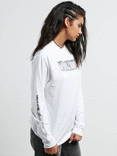 What A Trip Long Sleeve Tee - White