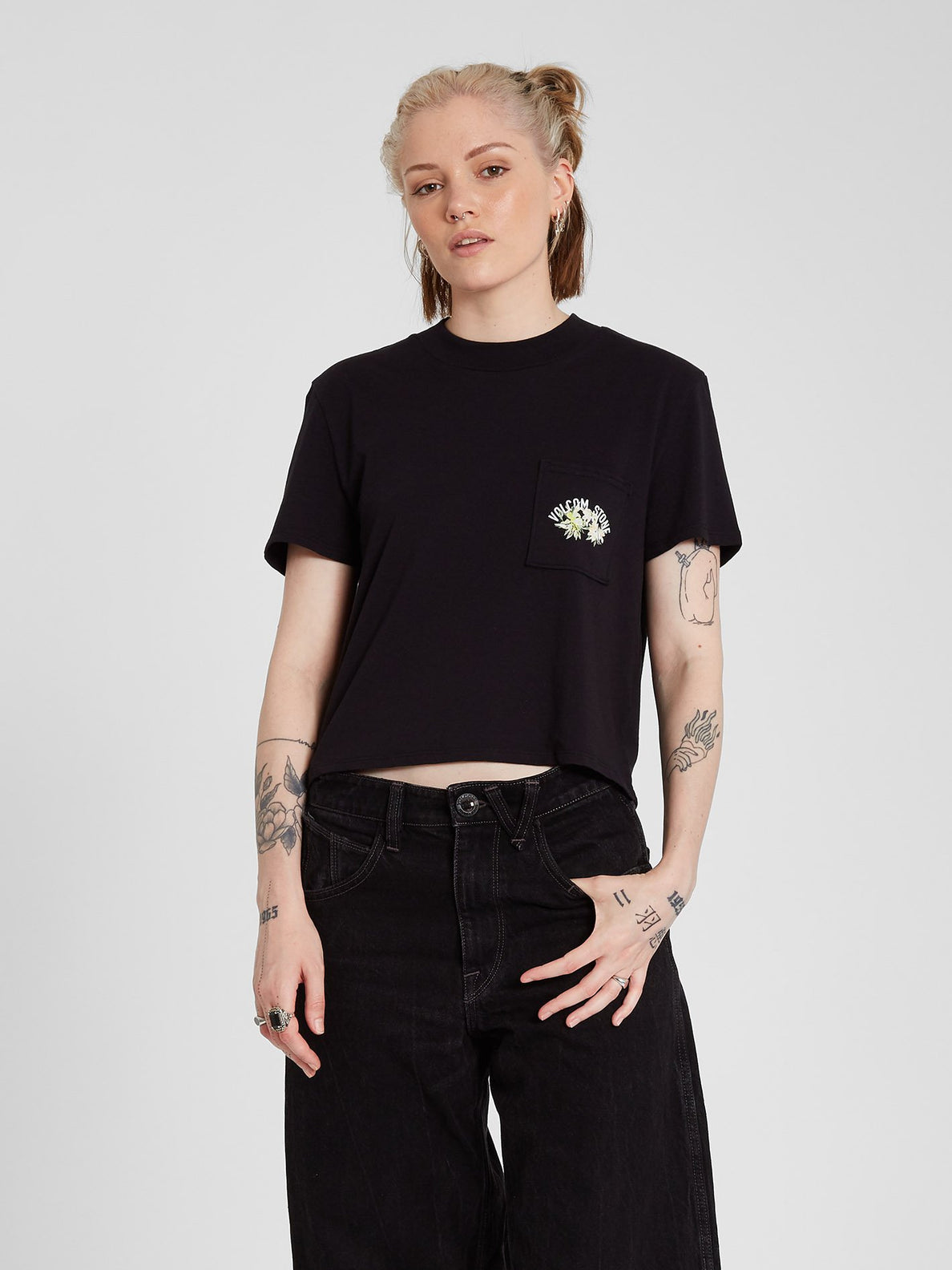 Pocket Dial T-shirt - Black (B3512103_BLK) [5]