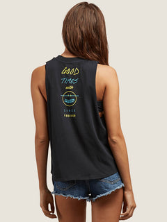 Get High Neck Tank - Black