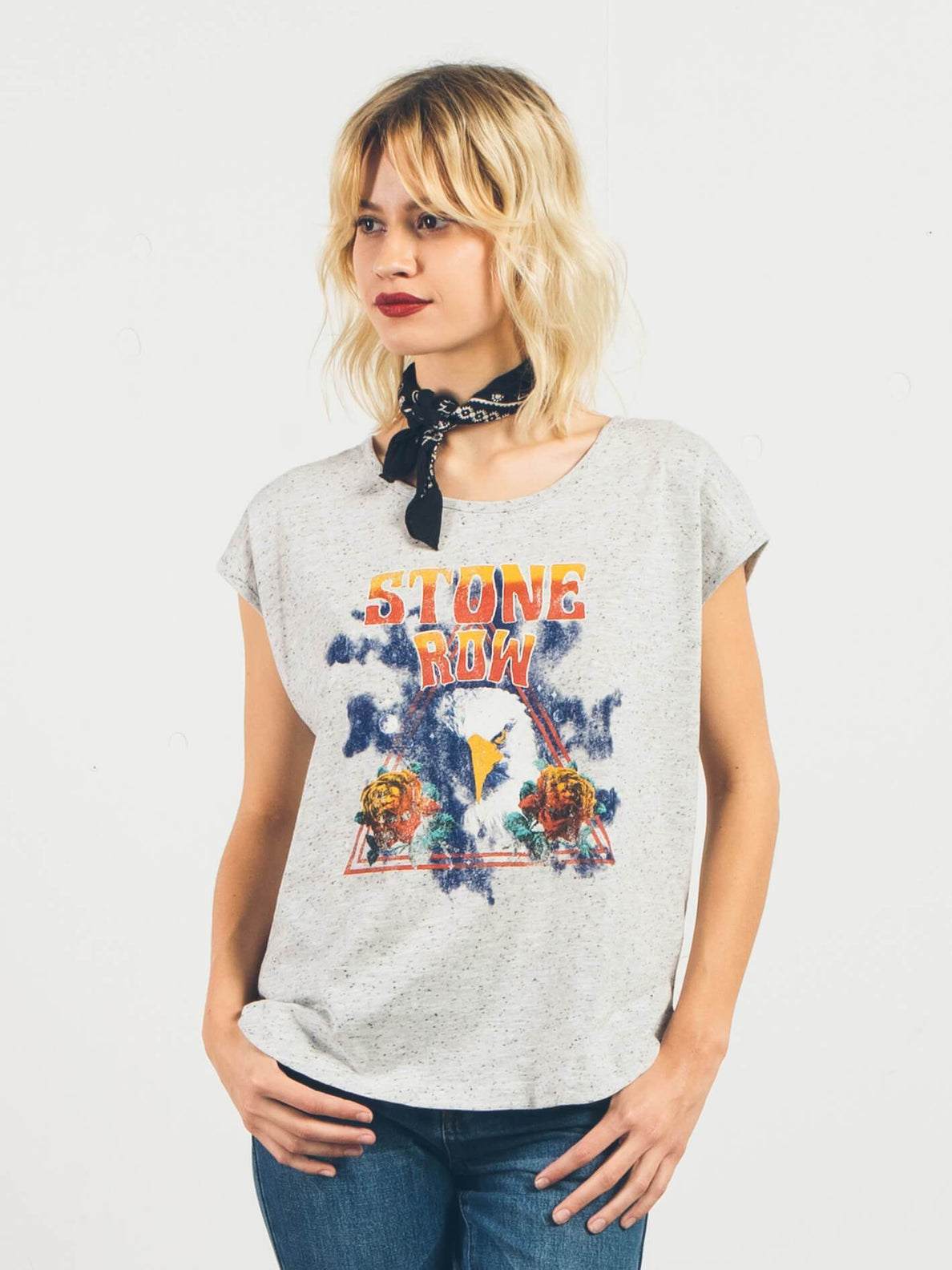 Stay Cosmic Crop Top - Star White