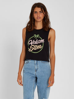 Stone Hour Crop Tank - Black (B4512102_BLK) [F]