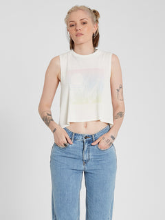 Stone Hour Crop Tank - Star White (B4512102_SWH) [F]