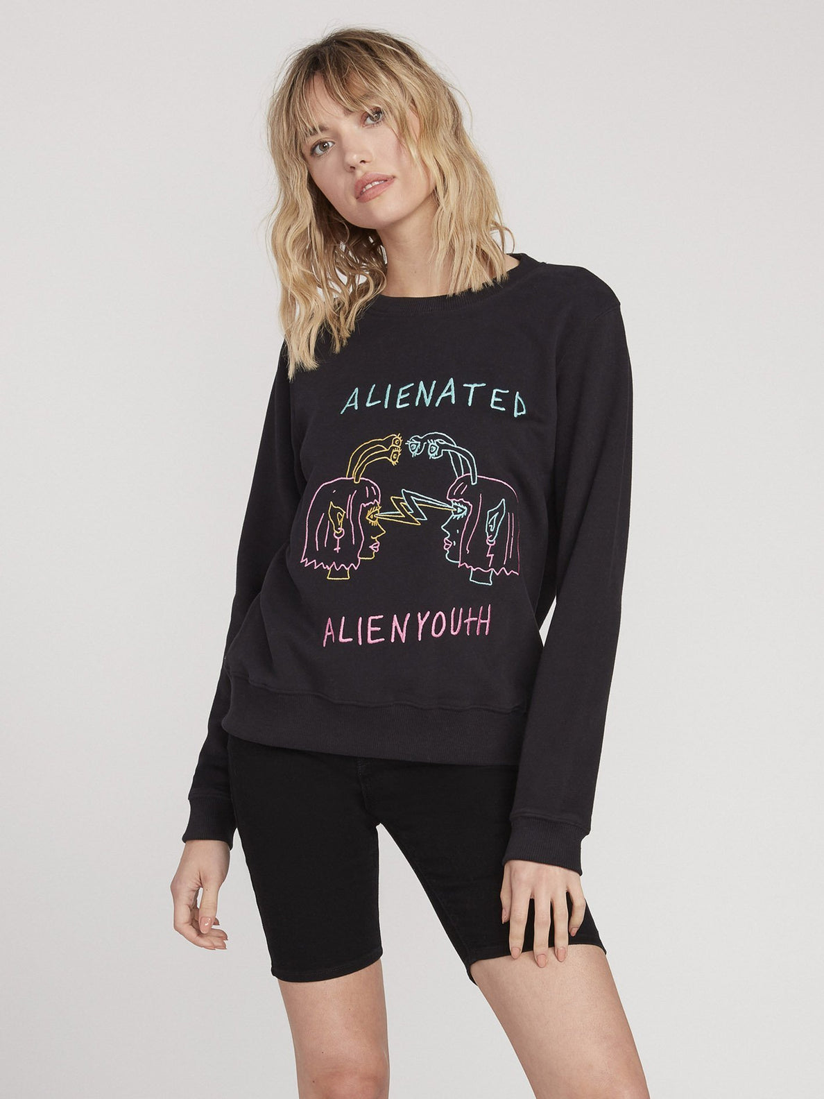 OZZIE ALIEN FLEECE (B4612056_BLK) [F]