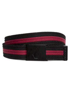 Strap Web Belt  - Burgundy