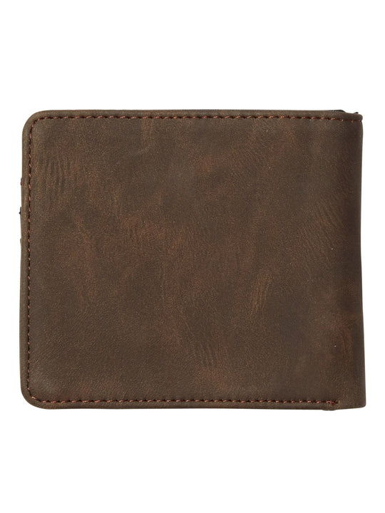 Slim Stone Pu Wallet - Brown