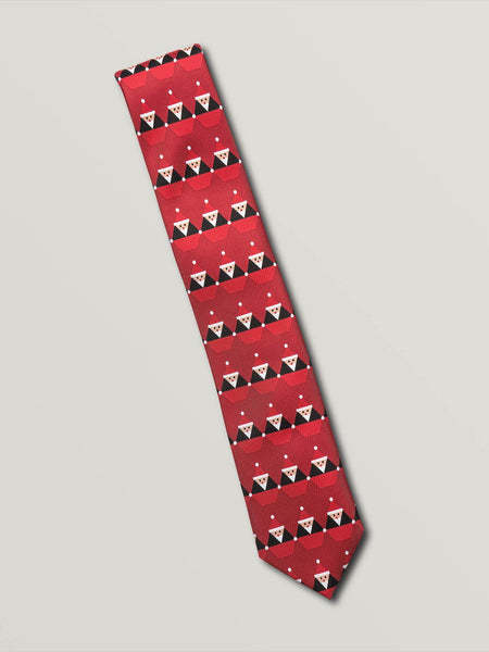 Santastone Neck Tie - Deep Red
