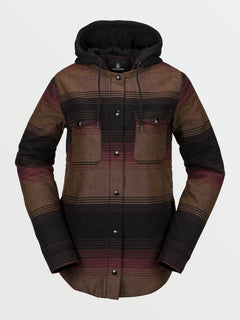 HOODED FLANNEL JKT (H1652101_STP) [F]