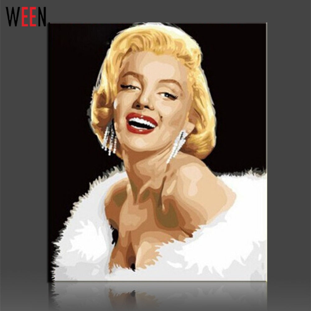 Marilyn Monroe - DIY Paint by Numbers Kit - The Paint By Number