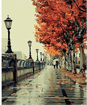 An Autumn Walk - DIY Paint by Number Kit - The Paint By Number