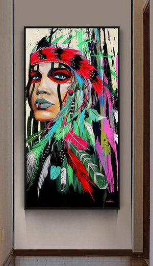 Traditional Indians - DIY Paint by Number Kits