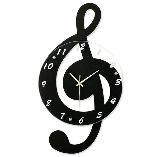 Stylish Musical Note Wall Clock