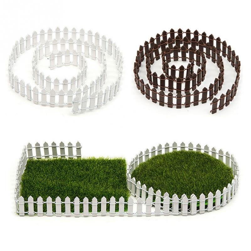 NEEDS DESCRIPTION DIY Miniature Small Wood Fencing 100*5cm/100*3cm Garden Decor Ornament White/Coffee Colors